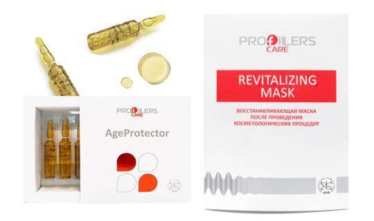 Мезо коктель Age Protector + маска плацентарная Revitalizing Profillers Care